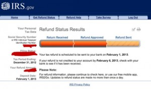 irs WMR refund status